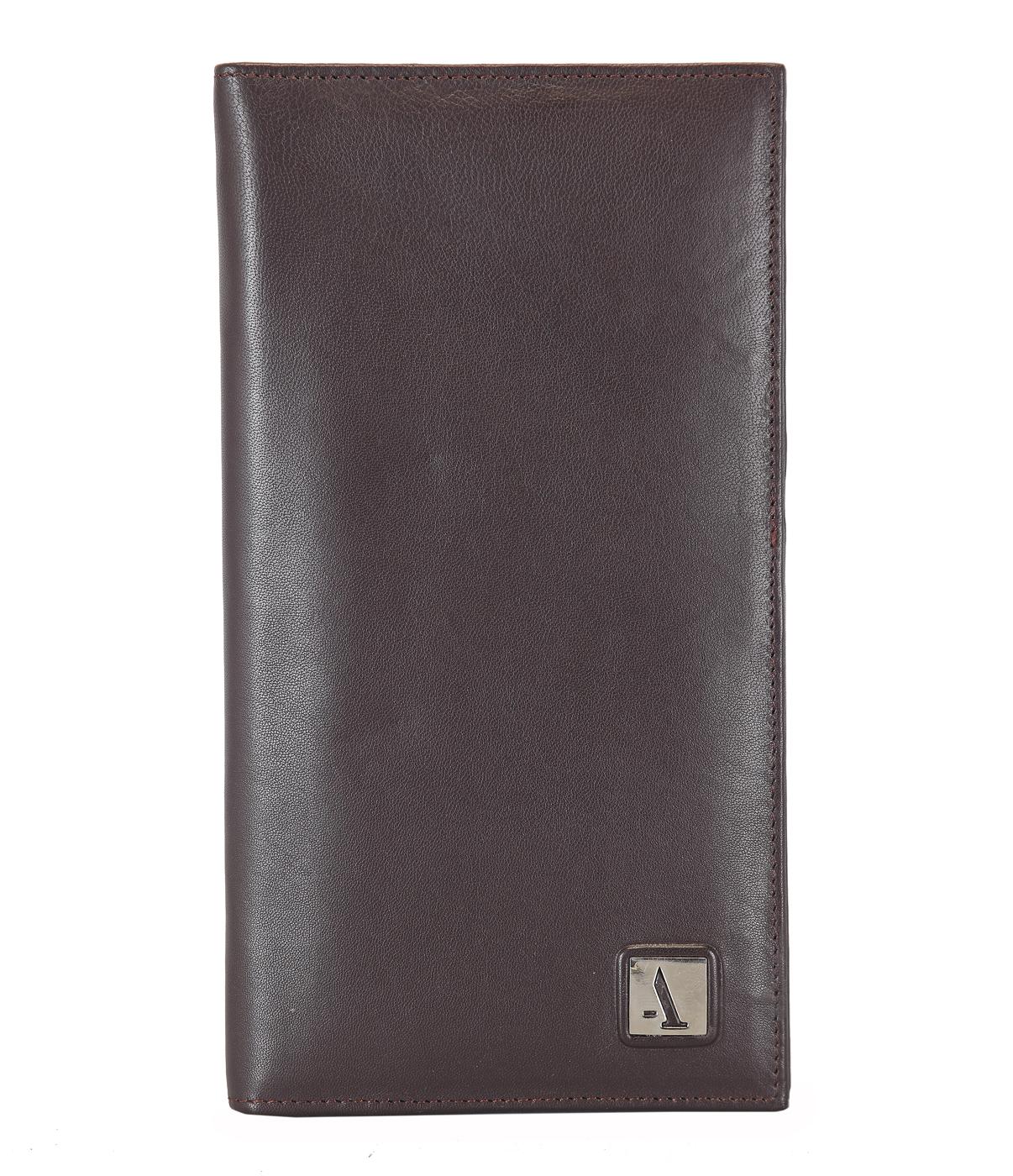 W10-Novio-Travel document wallet in soft Genuine Leather - Brown