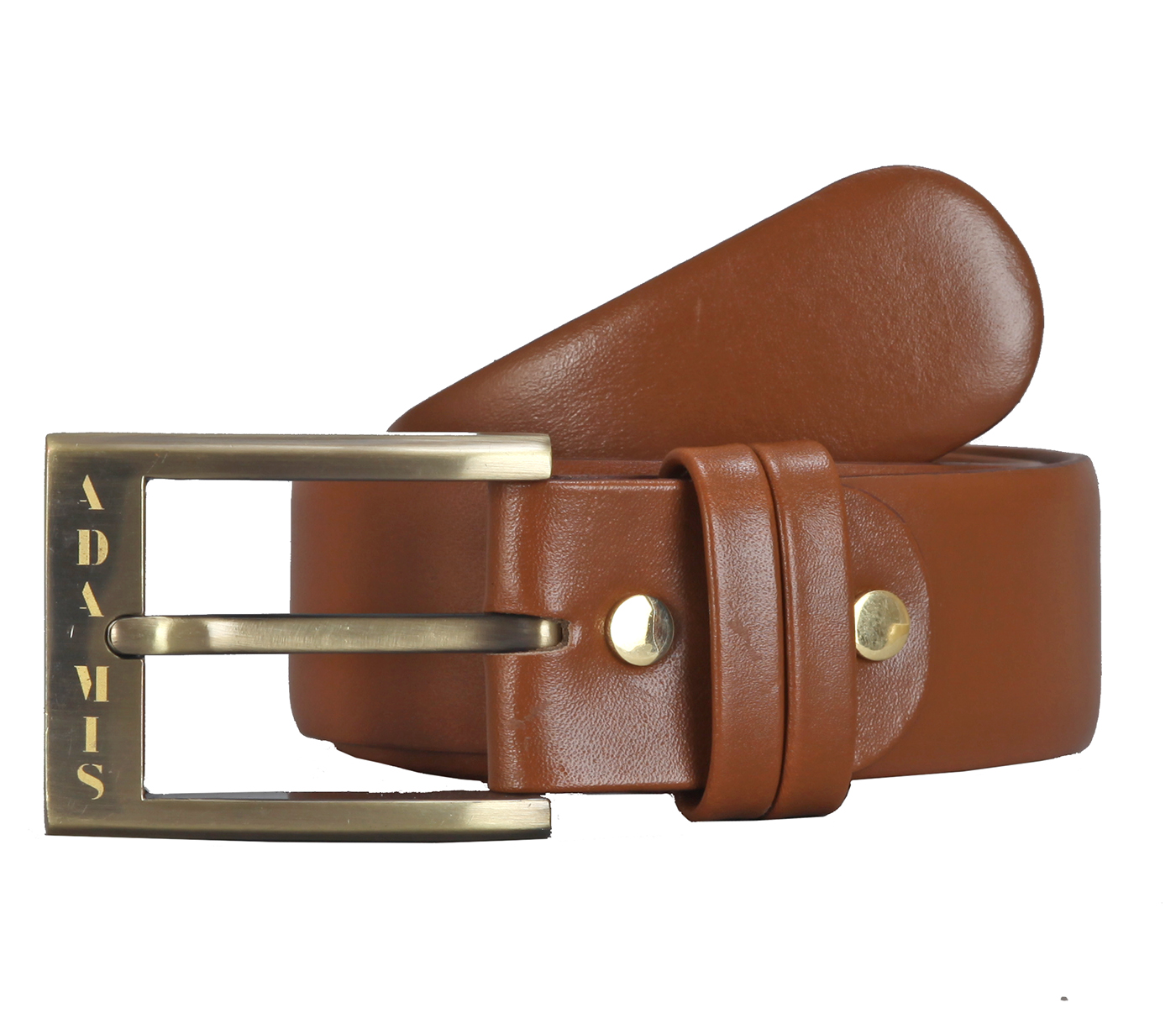 BL142--Men's Formal wear belt in Genuine Leather - Tan