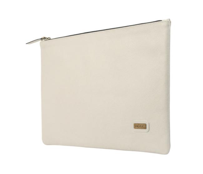 F16-Leonardo-Folder for documents in Genuine Leather - Icewhite
