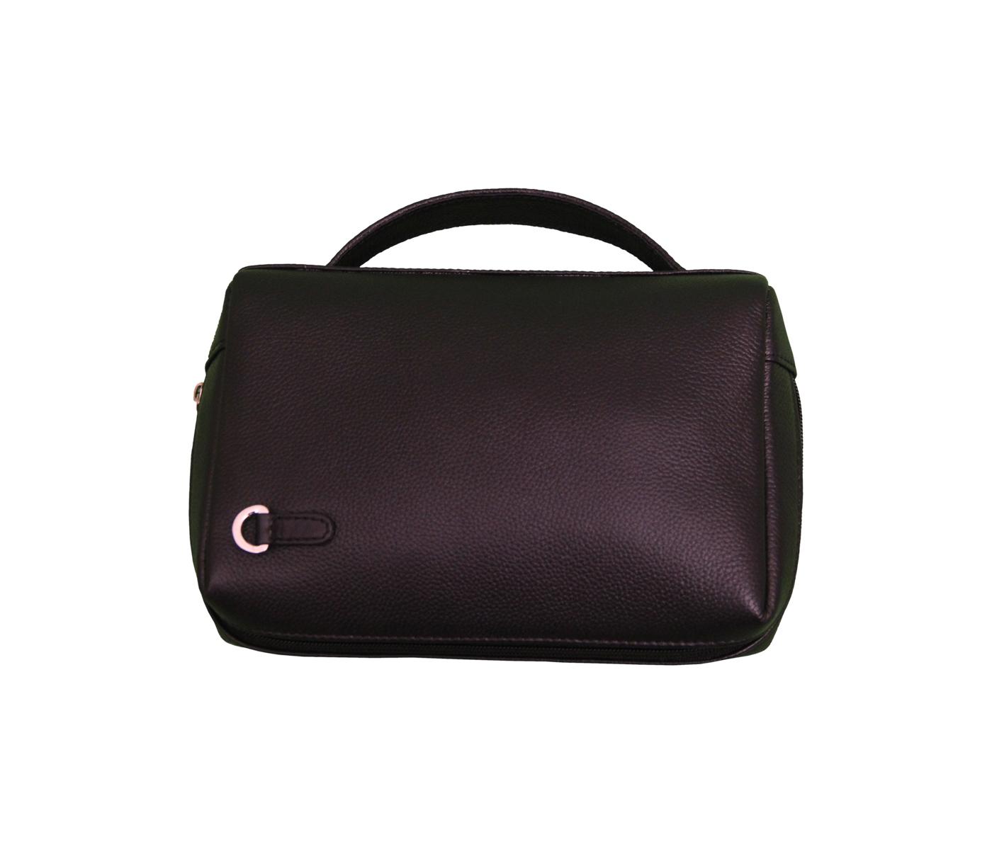 P21-Hayden-Men's bag cum travel pouch in Genuine Leather - Brown.