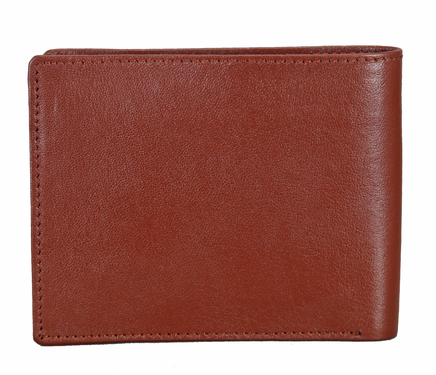 W256-Hudson-Men's bifold wallet with coin pocket in Genuine Leather - Tan