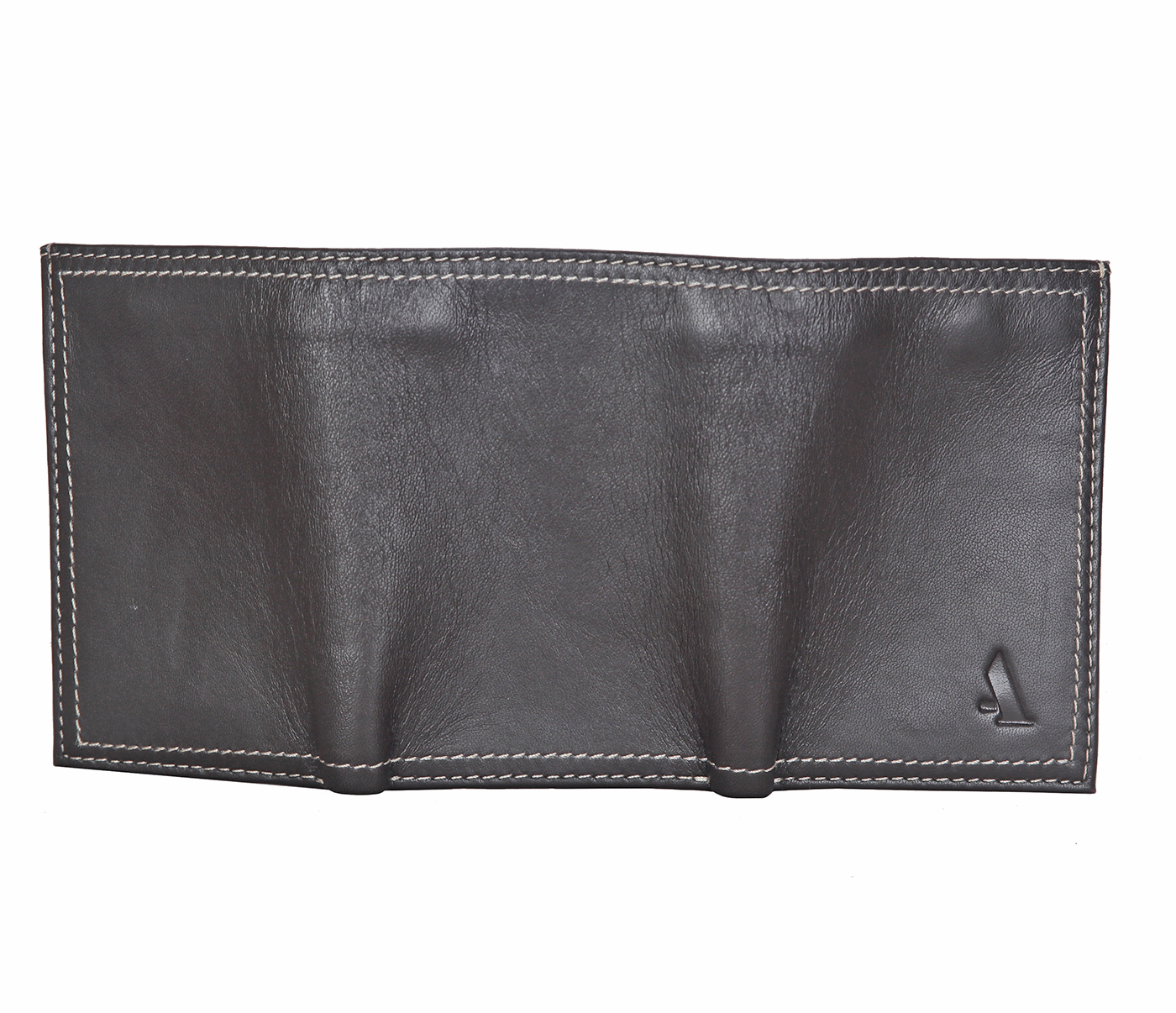 W282-Samuel -Mens's trifold wallet with photo id in Genuine Leather - Brown.