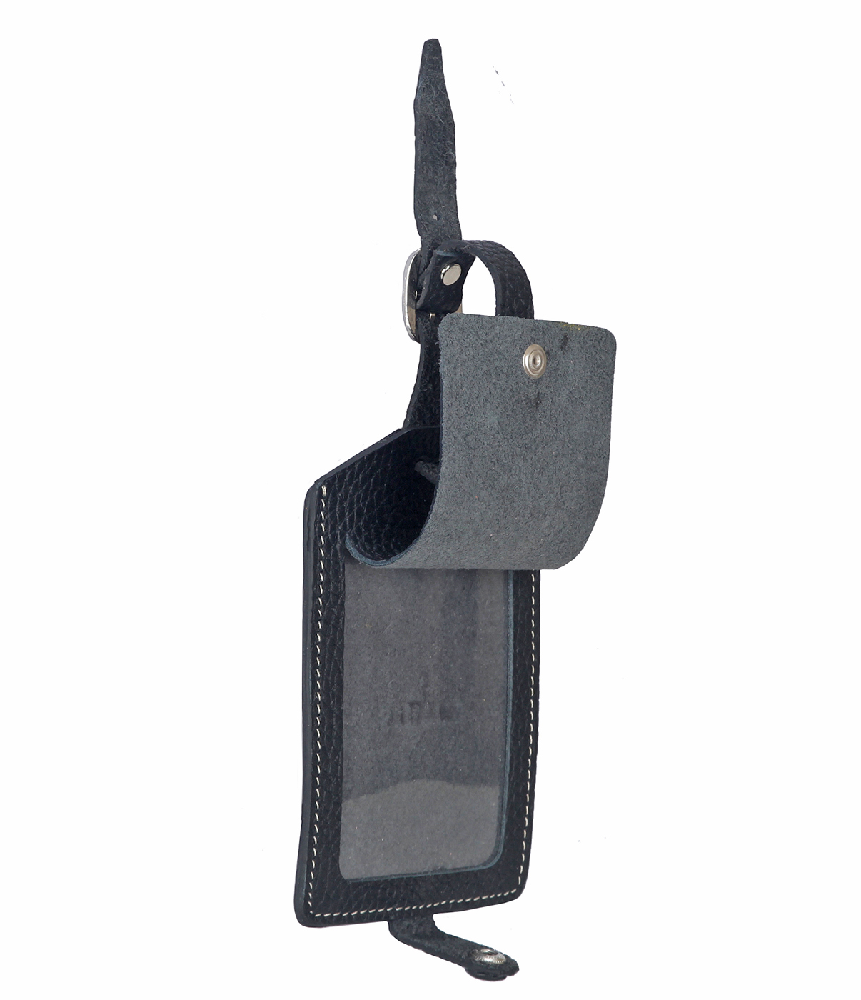 W283--Luggage, Recognising tag in Genuine Leather - Black